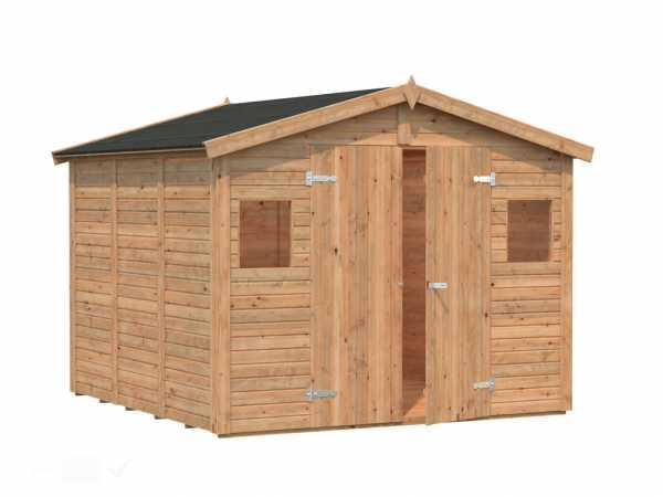 Gerätehaus Dan 7,0 m² 16 mm braun tauchimprägniert