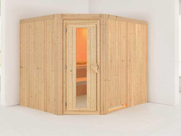 Systemsauna Malin Holztür mit Isolierglas