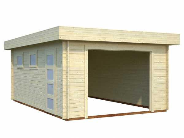 Garage Rasmus 19,0 m² ohne Tor 44 mm naturbelassen