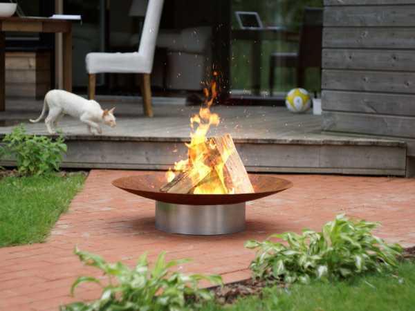 Design Feuerschale GRACE Super XXL Rohstahl