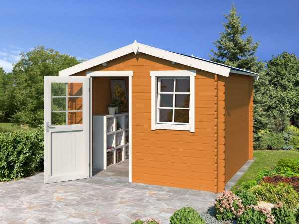 Gartenhaus Blockbohlenhaus Nina 175 28 mm eiche