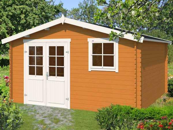 Gartenhaus Blockbohlenhaus Ebro B 28 mm eiche