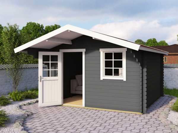 Gartenhaus Blockbohlenhaus Viljandi 485 28 mm carbongrau