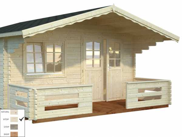 Terrasse 34 mm transparent tauchimprägniert