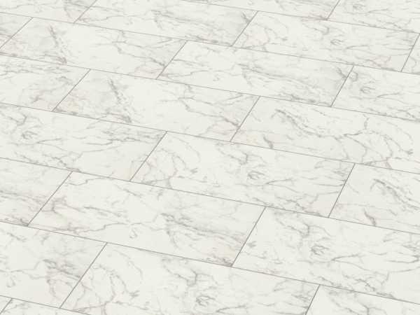 "Laminat Carrara Marmor D2921 ""Glamour"" Hochglanz Natursteinformat"