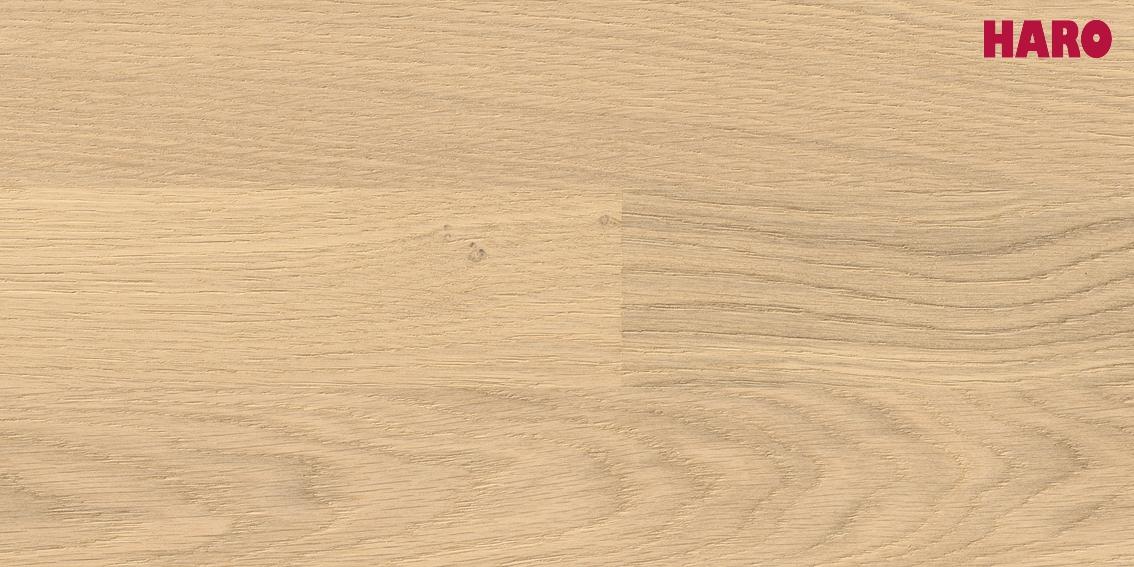 HARO Parkett Eiche sand pur Trend strukturiert Serie 4000 3-Stab Schiffsboden 535415
