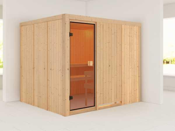 Sauna Nybro mit bronzierter Glastür