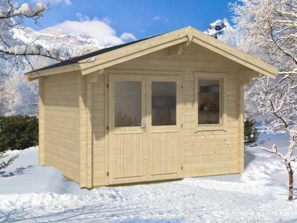gartenhaus blockbohlenhaus tirol 70 mm naturbelassen la1149. Black Bedroom Furniture Sets. Home Design Ideas