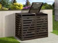 Mülltonnenbox für 2 Tonnen anthrazit imprägniert