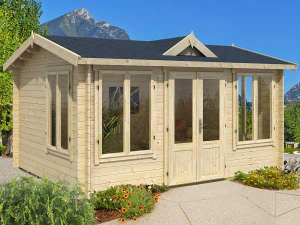 "Gartenhaus Blockbohlenhaus ""Windsor 44"" 44 mm naturbelassen"