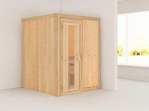 Systemsauna Norin Holztür mit Isolierglas