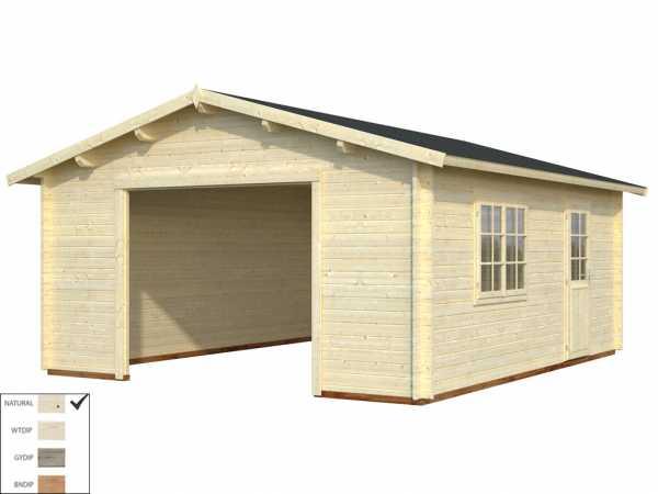 "Garage ""Roger"" 23,9 m² ohne Tor 44 mm naturbelassen"