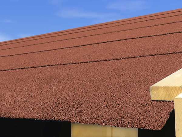 Selbstklebende Dachbahn für Satteldächer rot