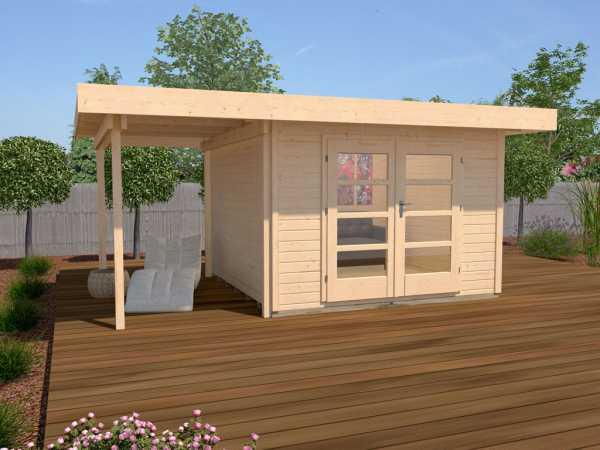 Gartenhaus Designhaus 126 A Gr. 2 28 mm naturbelassen