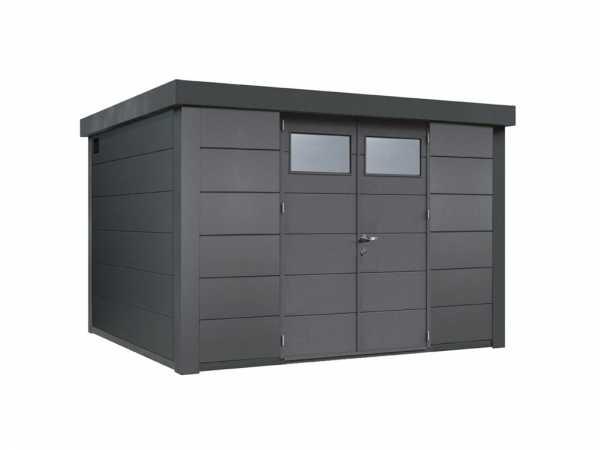 "Gerätehaus aus Metall ""Eleganto 3330"" Granitgrau"