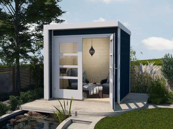 Gartenhaus Designhaus 262 A 21 mm anthrazit lasiert