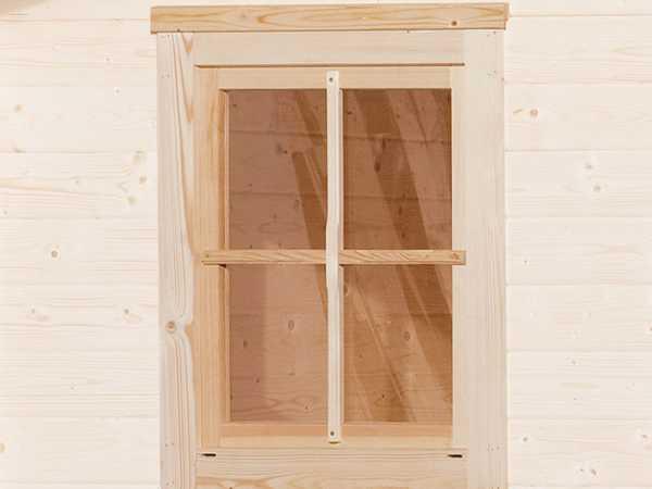 Einzelfenster für 45 mm, naturbelassen