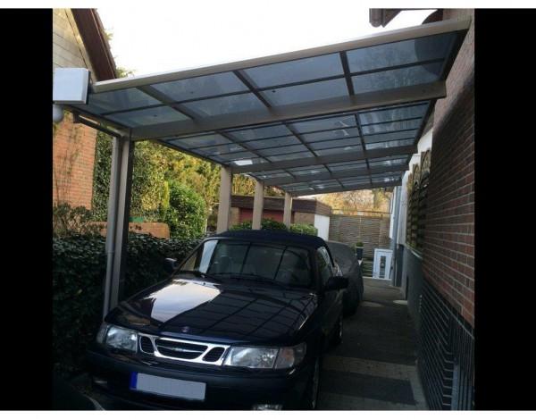 Carport Linea Typ 60 Tandem Edelstahl-Look