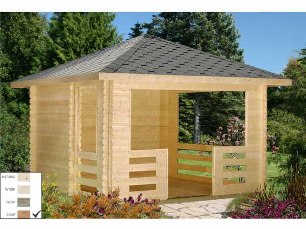 Pavillon Julie 10,5 m² braun tauchimprägniert