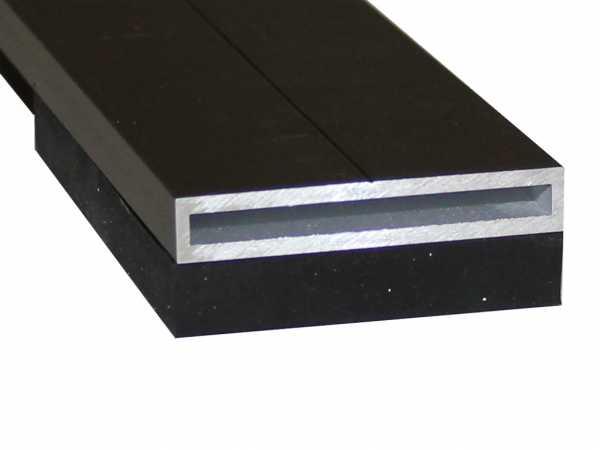 Aluminium Schiene mit EPDM anthrazit