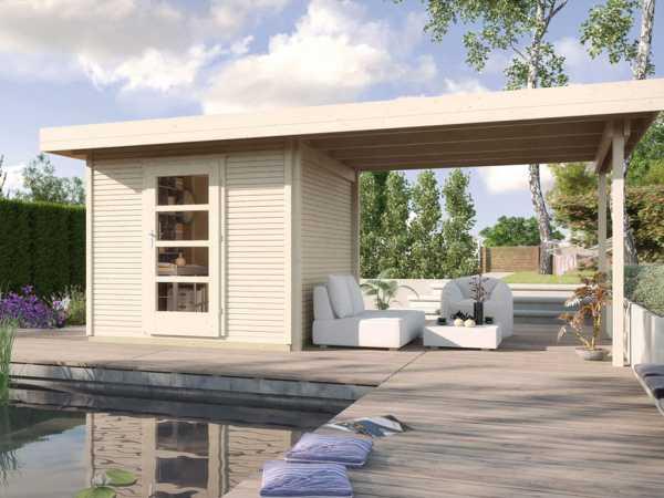 Gartenhaus Designhaus wekaLine 172 B Gr. 3 28 mm naturbelassen