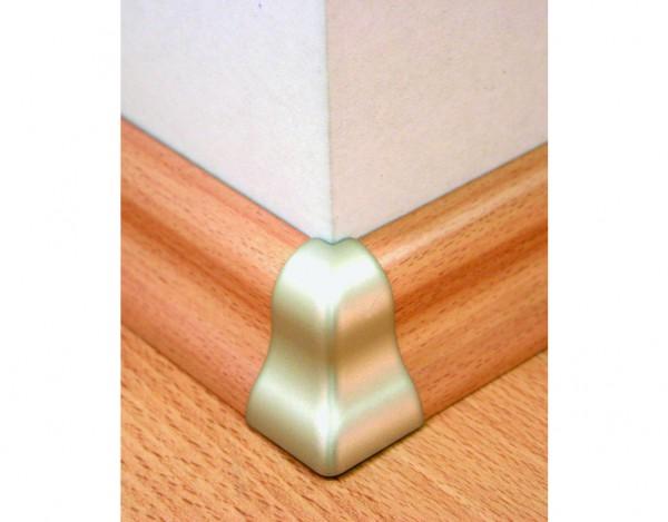 Außenecken für Sockelleisten Profil SKL 20, Grauweiß