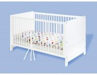 Kinderbett Viktoria Kiefer, weiß lackiert