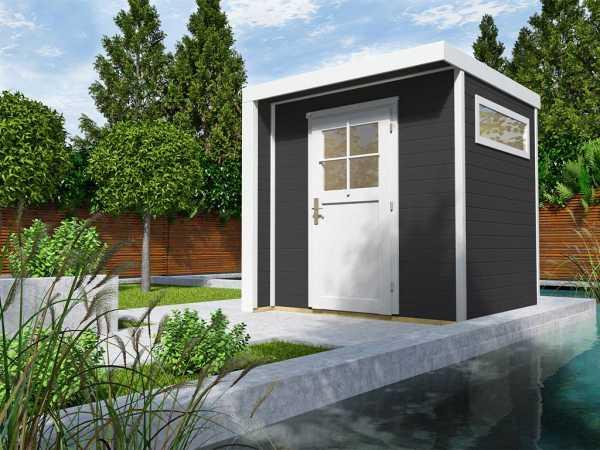 Gartenhaus Designhaus 262 21 mm anthrazit lasiert