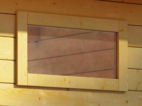 Fenster feststehend für 28 mm starke Gartenhäuser