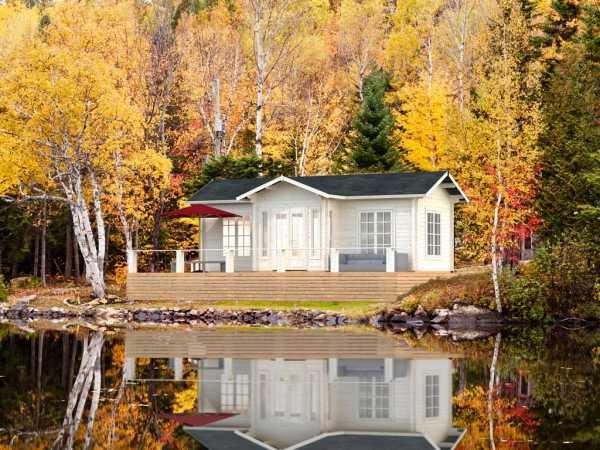 Ferienhaus Blockbohlenhaus Anna 26,8 m² 70 mm naturbelassen