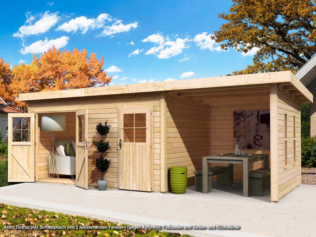 gartenhaus sparset tintrup 28 mm naturbelassen wo0461. Black Bedroom Furniture Sets. Home Design Ideas