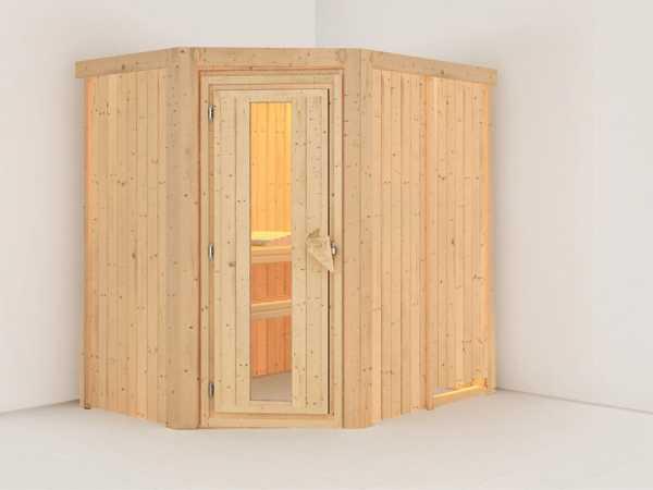 Systemsauna Carin Holztür mit Isolierglas