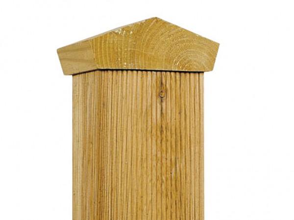 Pfostenkappe Dach Kiefer für Pfosten 90 x 90 mm
