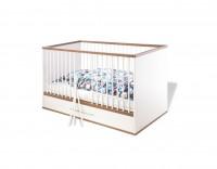 Kinderbett Tuula Kiefer, weiß lackiert