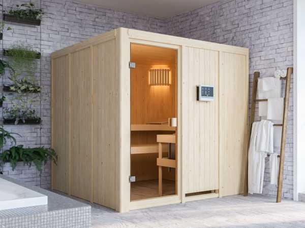 Sauna Systemsauna SPARSET Celine 4 inkl. 9 kW Bio-Ofen mit ext. Steuerung