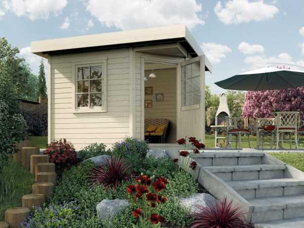 Gartenhaus Designhaus 213 Gr. 1 28 mm naturbelassen