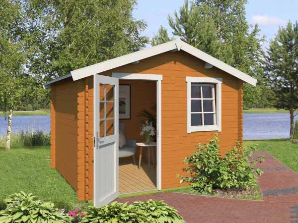 Gartenhaus Blockbohlenhaus Daan 300 28 mm eiche