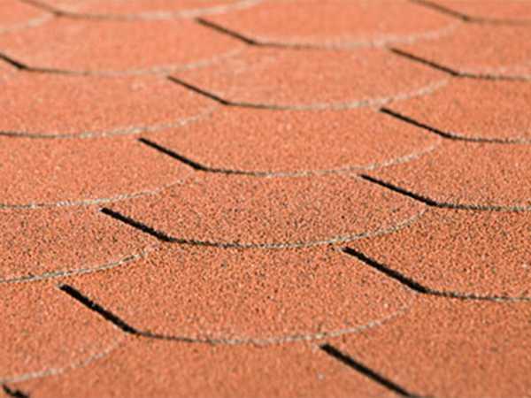 Bitumen-Dachschindeln Biberschwanz