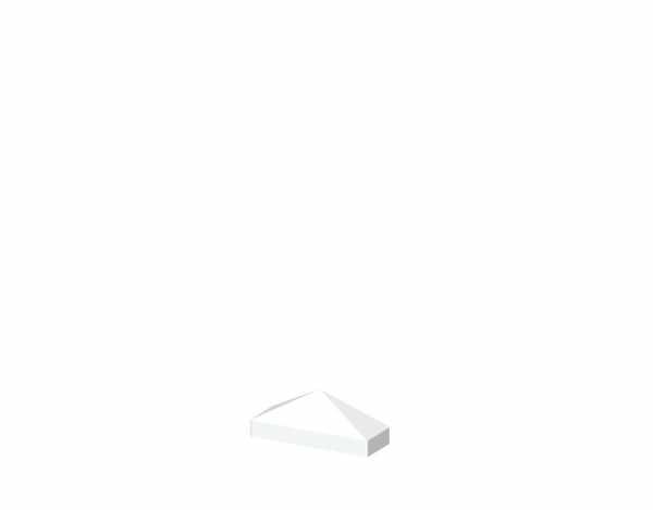 Pyramide-Aufsatz LONGLIFE CARA Weiß