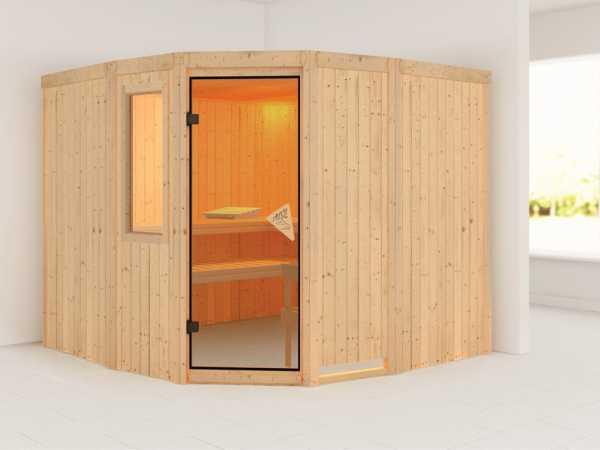 Sauna Systemsauna Simara 3 mit Fenster