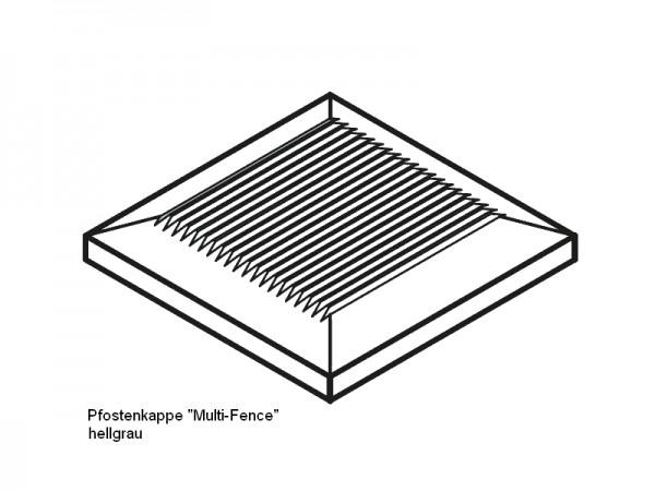 Pfostenkappe BPC Multi Fence hellgrau