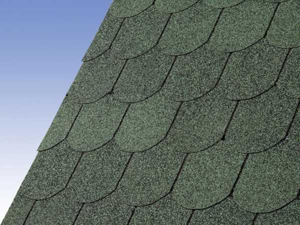 Dachschindeln Biberschwanz dunkelgrün