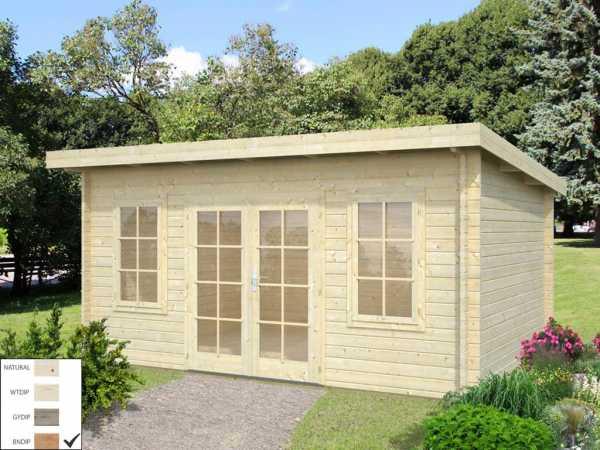 "Gartenhaus Blockbohlenhaus ""Lisa"" 14,2 m² 44 mm braun tauchimprägniert"