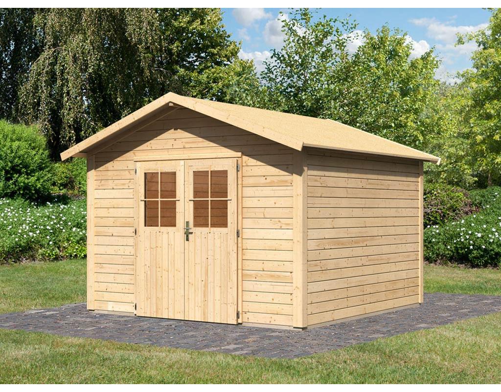 karibu woodfeeling gartenhaus linau 8 28 mm. Black Bedroom Furniture Sets. Home Design Ideas