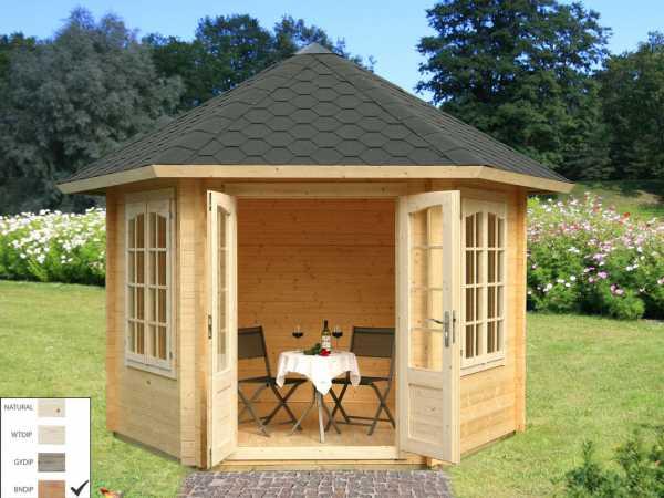 Pavillon Hanna 7,6 m² braun tauchimprägniert