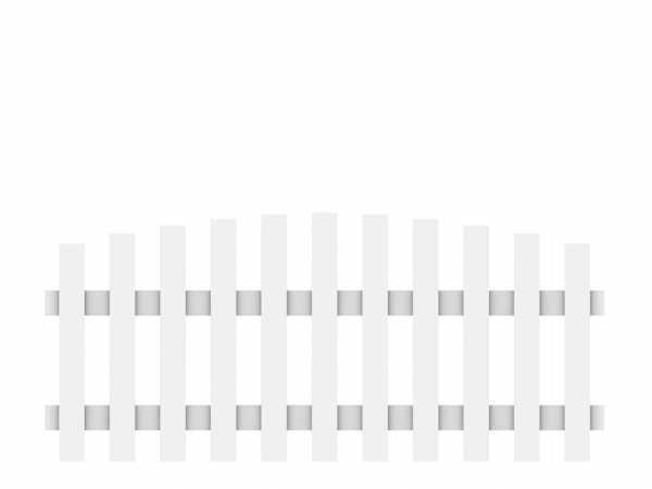 Vorgartenzaun LONGLIFE CARA Hauptelement mit Bogen Weiß