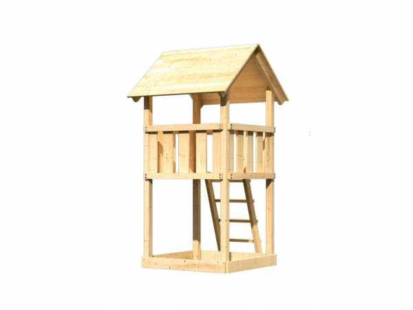 Spielturm Lotti naturbelassen Sandkiste