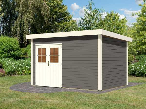 gartenhaus kulpin 7 28 mm terragrau wo0295. Black Bedroom Furniture Sets. Home Design Ideas