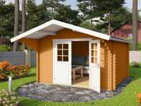 Gartenhaus Blockbohlenhaus Viljandi 484 44 mm eiche