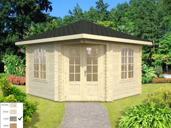 "Pavillon ""Melanie"" 9,6 m² grau tauchimprägniert"